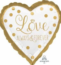 """18"""" Sparkling Love Always Wedding"""