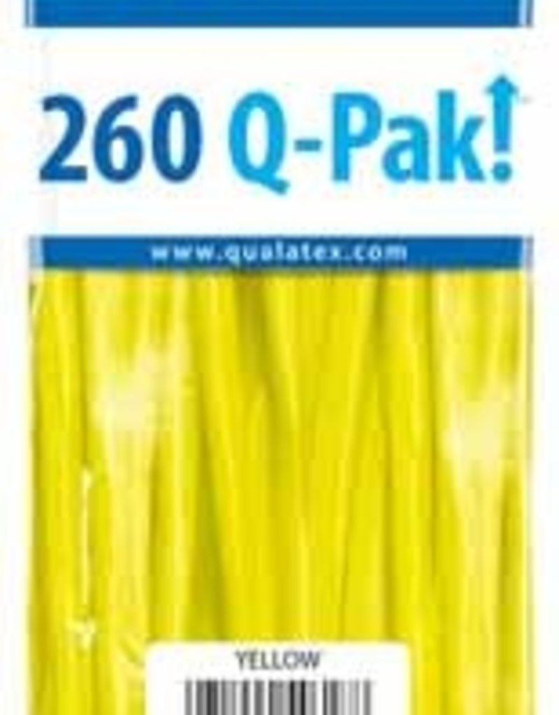 Qualatex 260Q Q-Pak Yellow - 50ct