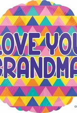 "Qualatex 18"" Love You Grandma (FLAT)"