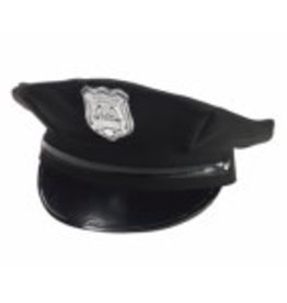 BLACK POLICEMAN HAT