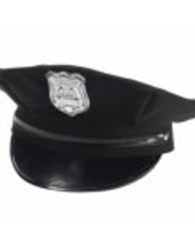 BLACK POLICEMAN HAT
