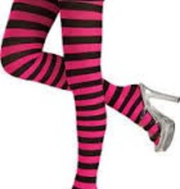 SEXY BLACK & PINK STRIPED TIGHTS