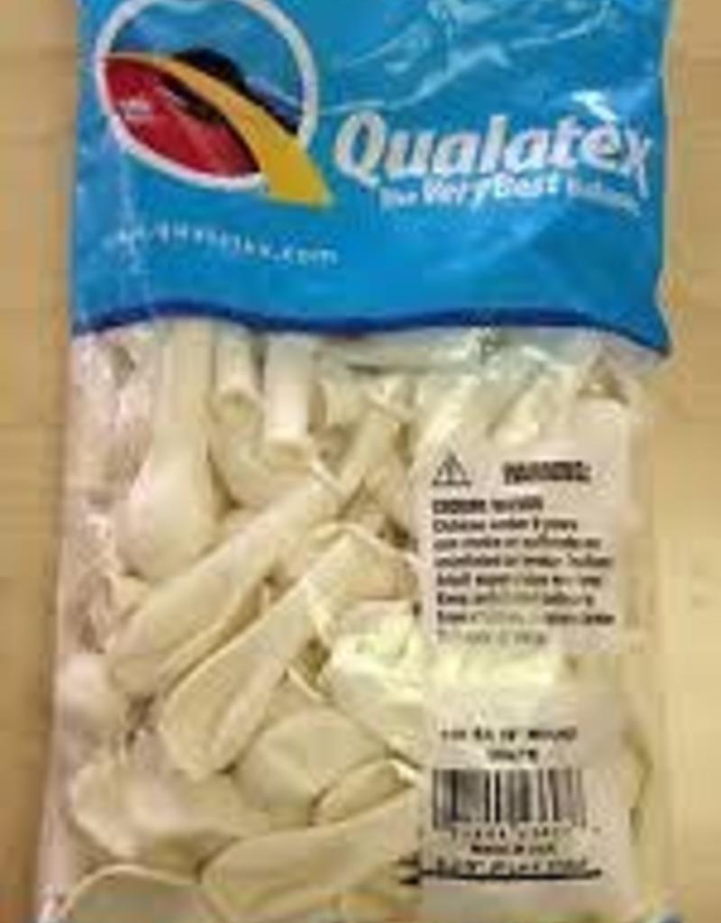 "Qualatex 5"" Round Standard White"