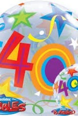 """Qualatex 22"""" 40 BRILLIANT STARS BUBBLE"""