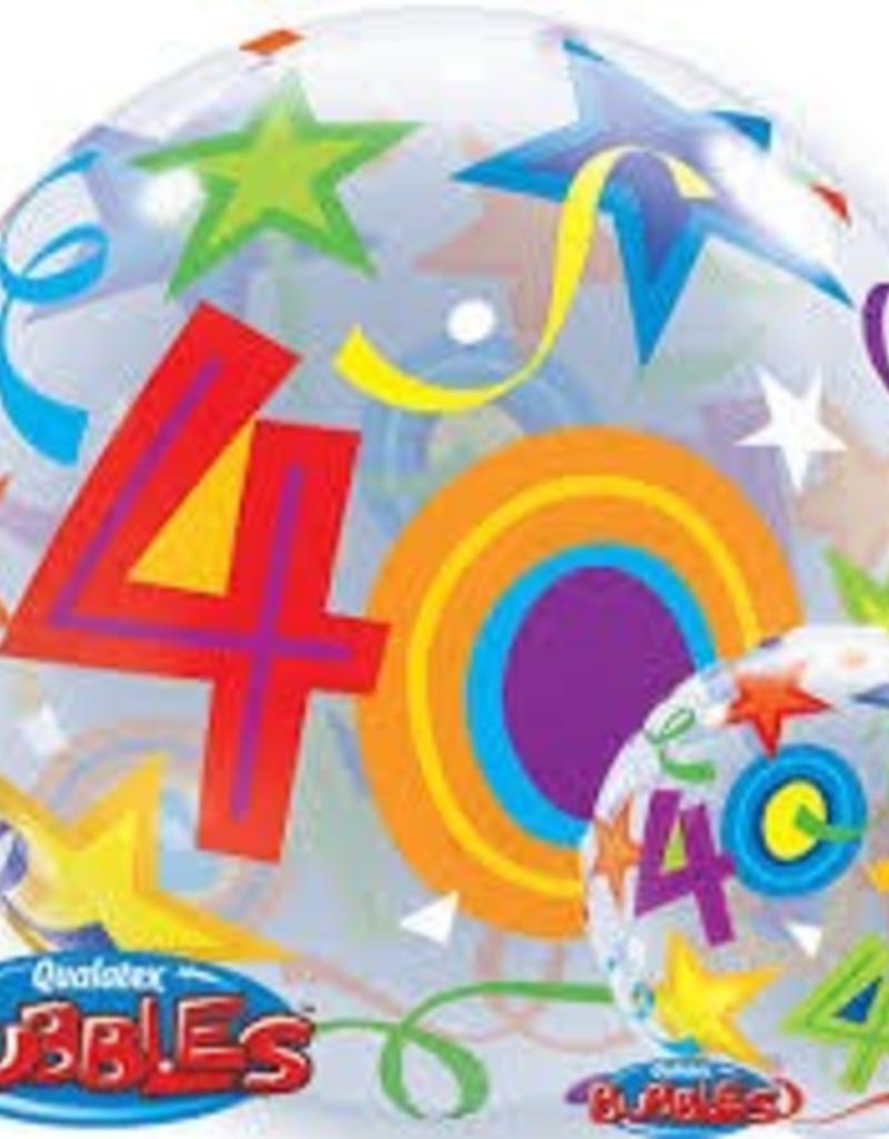 """Qualatex 22"""" Bubble - 40 Brilliant Stars"""
