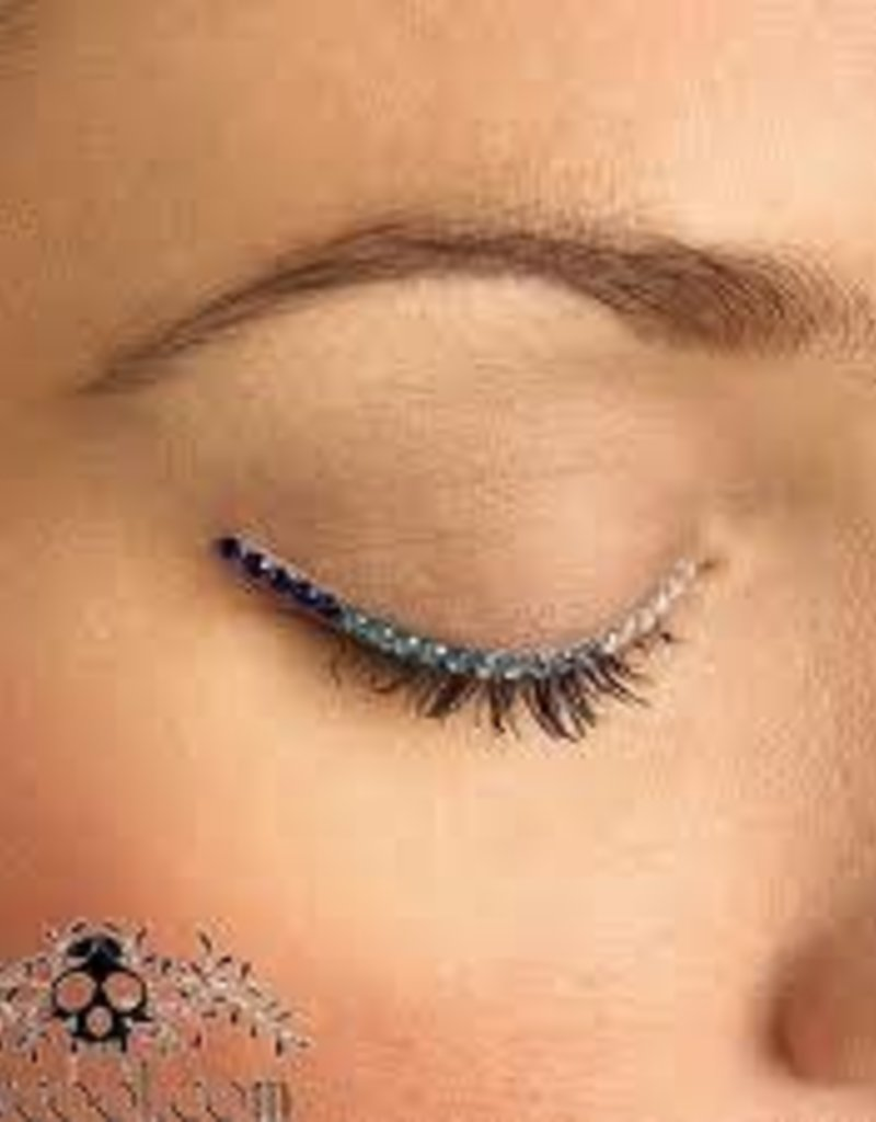 BLUE/WHITE SPARKLE EYELIDS