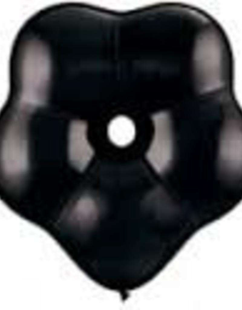 """Qualatex 06"""" GEO BLOSSOM ONYX BLACK 50CT"""
