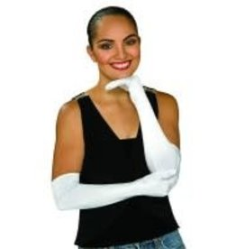 SATIN OPERA GLOVES WHITE