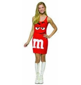 M&M RED PARTY DRESS - Small/Medium -