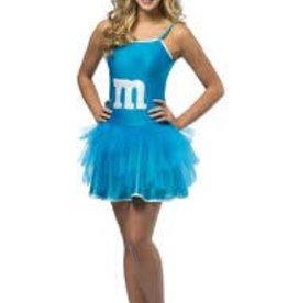 M&M BLUE PARTY DRESS - Small/Medium -