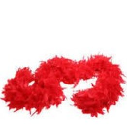 FEATHER BOA - red