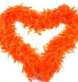 ORANGE FEATHER BOA