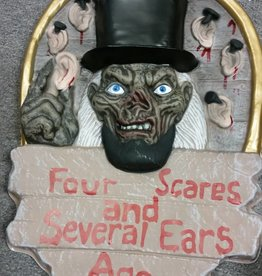 FOUR SCARES HALLOWEEN SIGN