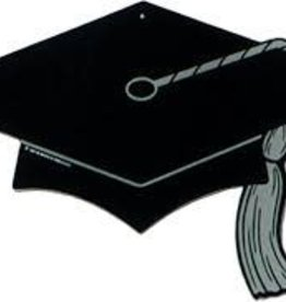 BLACK GRAD CAP CUTOUT