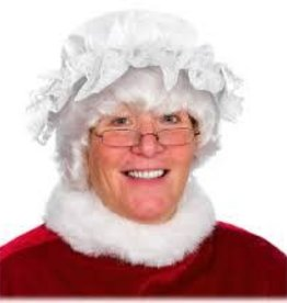 MRS CLAUS COTTON/LACE CHARMER HAT