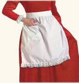WHITE COTTON APRON