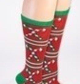 UGLY CHRISTMAS SOCKS - CANDY CANE