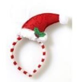 MINI SANTA HAT HEADBAND W/ MISTLETOE
