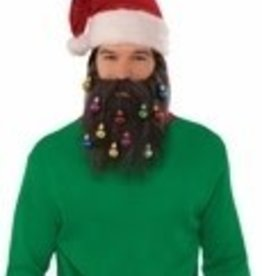 SANTA BEARD W/ ORNAMENTS BROWN