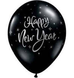 "Qualatex 11"" RND ONYX BLACK NEW YEAR SPARKLE 50CT"