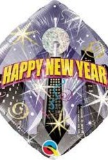 "Qualatex 18"" NEW YEAR COUNTDOWN DIAMOND HOLOGRAPH"