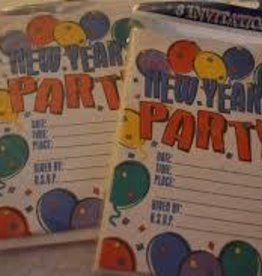 NEW YEARS PARTY INVITATION 8pk