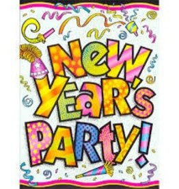 NEW YEARS PARTY INVITATIONS 8pk