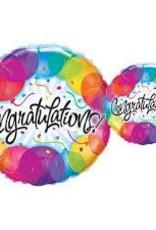 """Qualatex 09"""" Congratulations Balloons"""