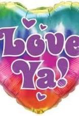 """18"""" LOVE YA ! FOIL"""