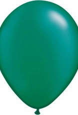 "Qualatex 11"" PEARL EMERALD GREEN 100 CT"