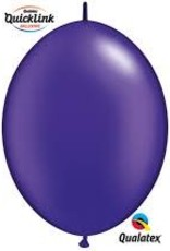 "Qualatex 12"" Quick Link Pearl Quartz Purple 50CT"