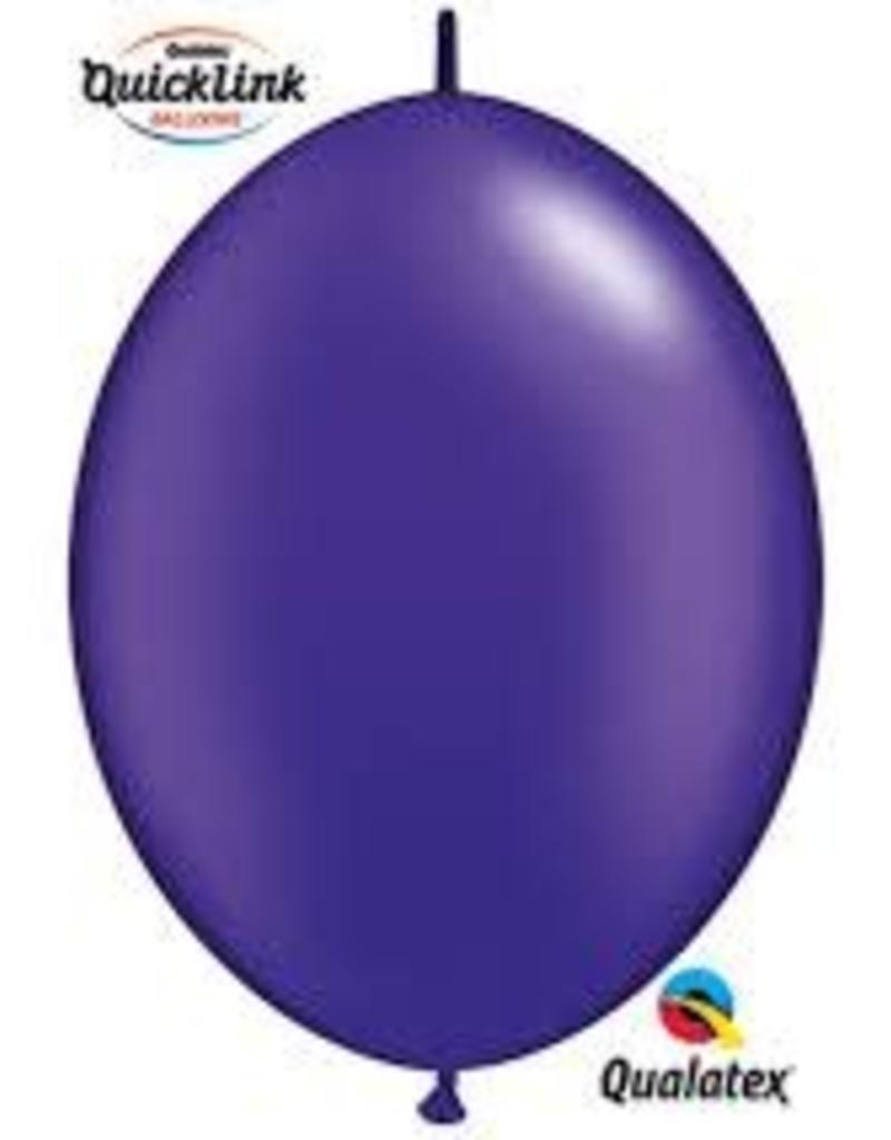 "Qualatex 12"" Quick Link Pearl Quartz Purple 50CT"