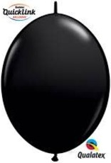 "Qualatex 06"" Quick Link Onyx Black 50ct"