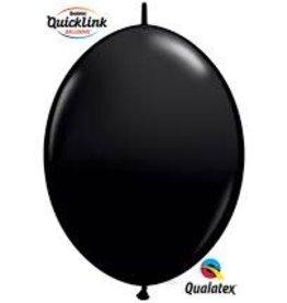 "Qualatex 06"" Quick Link Onyx Black 50ct"