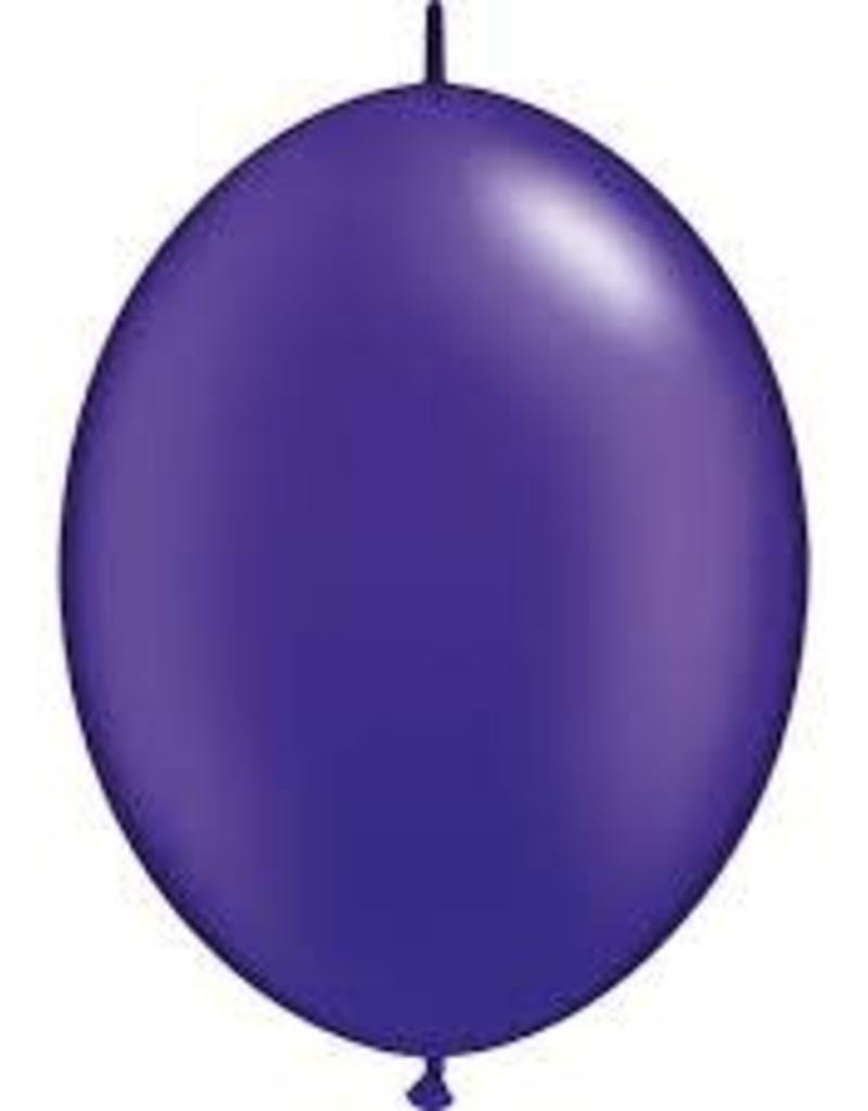 "Qualatex 06"" Quick Link Pearl Quartz Purple 50ct"