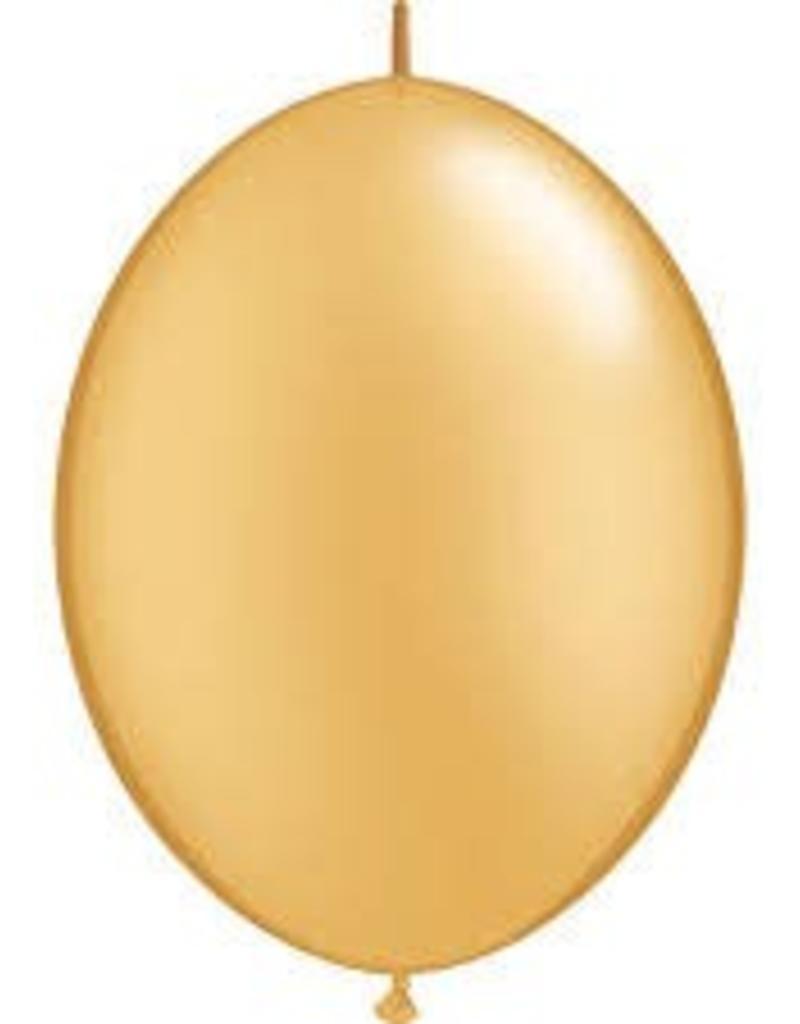"Qualatex 06"" Quick Link Gold 50ct"