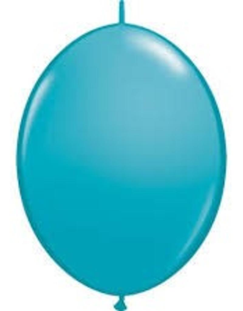 "Qualatex 06"" Quick Link Tropical Teal 50ct"