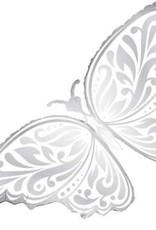 "Qualatex 44"" WEDDING BUTTERFLY WHITE"