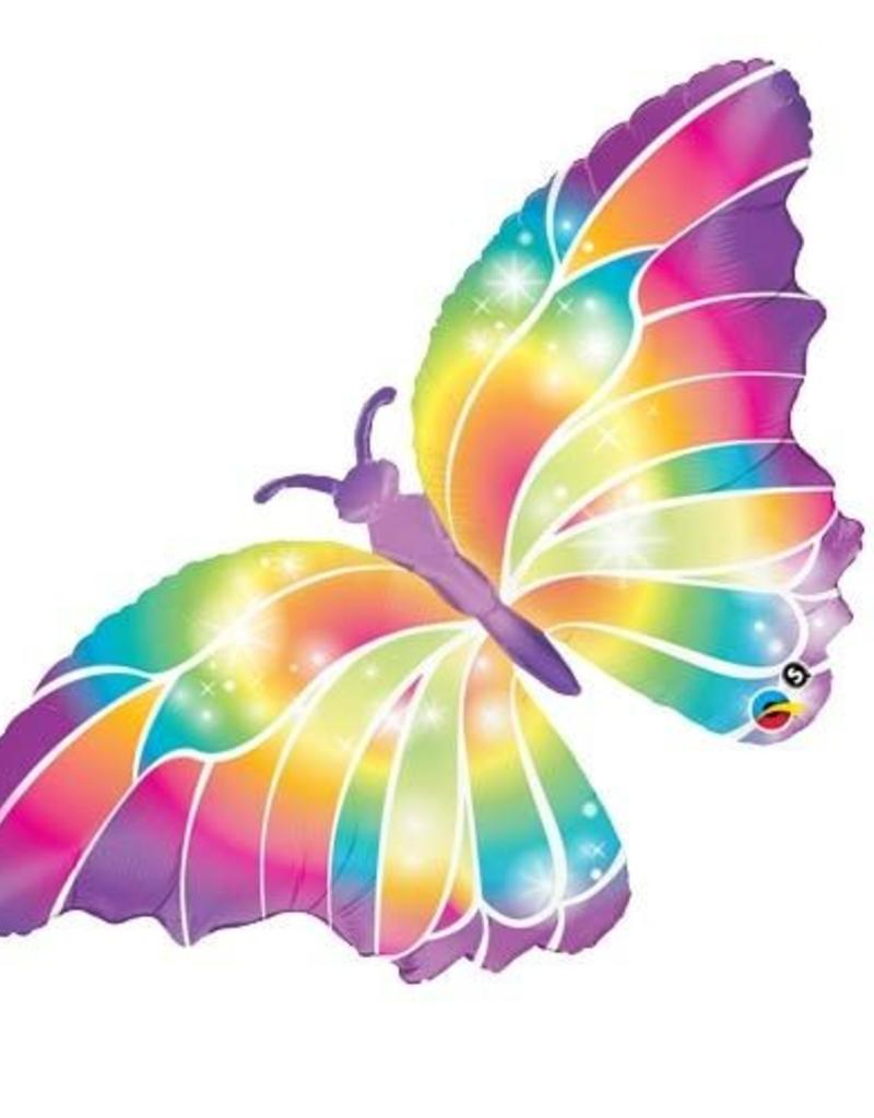 "Qualatex 44"" LUMINOUS BUTTERFLY RAINBOW"