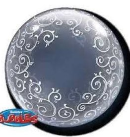 "Qualatex 24"" Deco Bubble - Fancy Filigree"