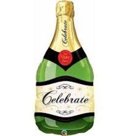 "Qualatex 39"" Celebrate Champagne Bottle Green"
