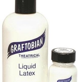 Graftobian White Liquid Latex - Theatrical Adhesive 8oz