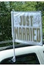 """14"""" x 18"""" Just married Car Flag"""