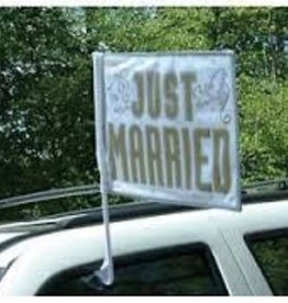 "14"" x 18"" Just married Car Flag"