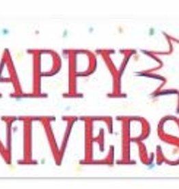 "Happy Anniversary Sign Banner 5'x21"""