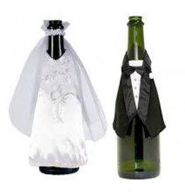 Champagne Bottle Bride & Groom Wear