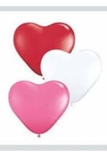 "Qualatex 06"" HEART LOVE AST 100CT"