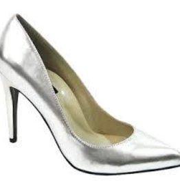 The Highest Heel Ladies Pump - Silver Shoe