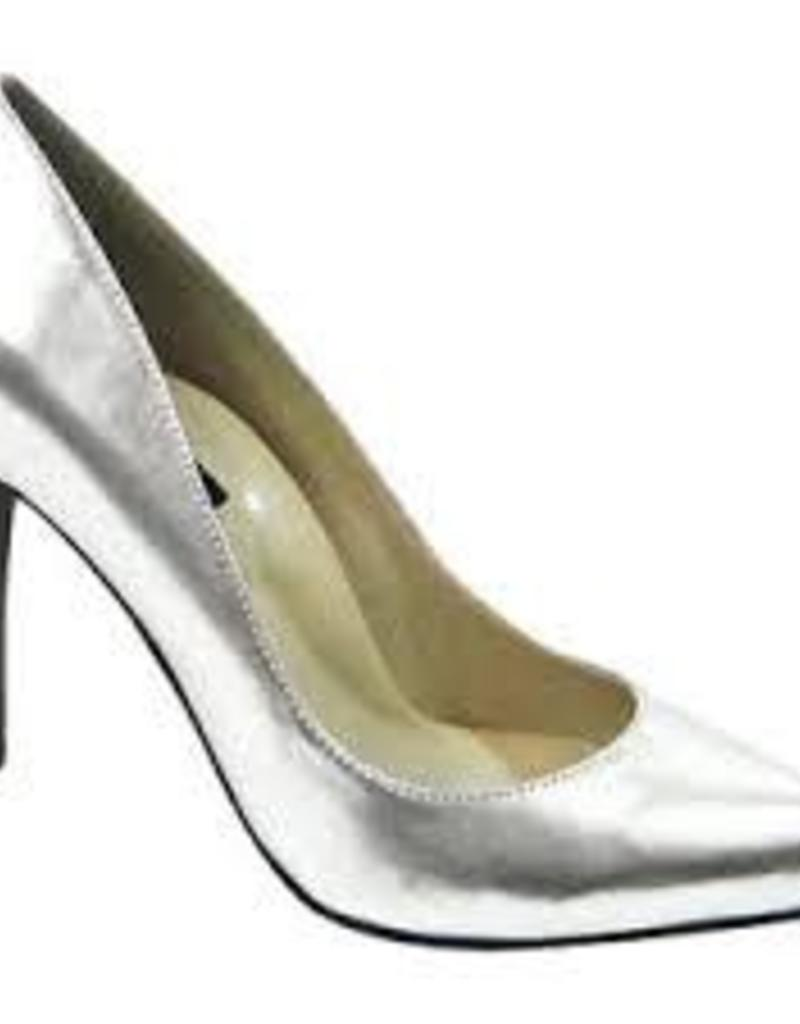 The Highest Heel Ladies Pump - Silver Shoe