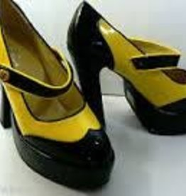 Black & Yellow Mary Janes - 8 Shoe